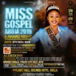 EVENT: MISS GOSPEL ABUJA 2019, Pageant!!! | @100percentgospo