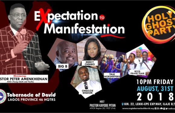 EVENT: RCCG TOD Presents Holy Ghost Party August 2018 Ft. Mercy Chinwo, Big Bolaji And More!!